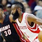 Rockets rout Heat behind Harden, Howard