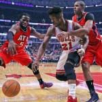 Hawks ride Korver by Bulls, to 12th win in row