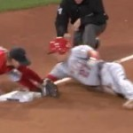 Mike Trout pulls off slick stolen base with acrobatic slide
