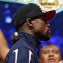 Mayweather-Pacquiao weigh-in draws 11,500 fans as fighters use shoe tactics (Yahoo Sports)