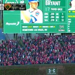 Bryant breaks in Cubs bleachers with HR