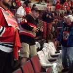Blackhawks fans face soggy bottoms after Game 6 arena roof leak