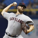Indians' Anderson flirts with perfecto in 1st win