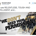 Vanderbilt posts pic with 'We don't need your permission' motto