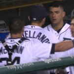 Tigers teammates James McCann and Jose Iglesias have dugout scuffle