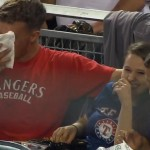 Foul ball comes to eat, destroys Rangers' fan's nachos